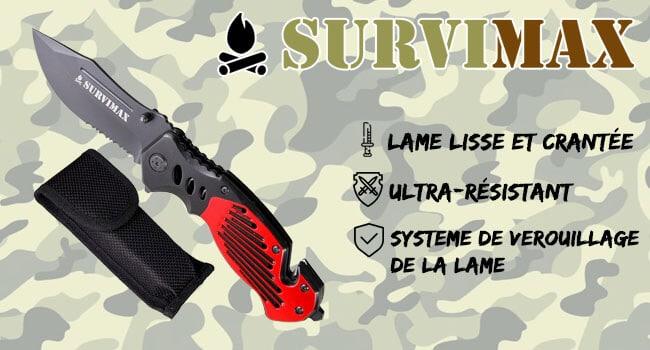 COUTEAU DE SURVIE SURVIMAX